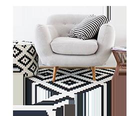 контрастный черно-белый ковролин