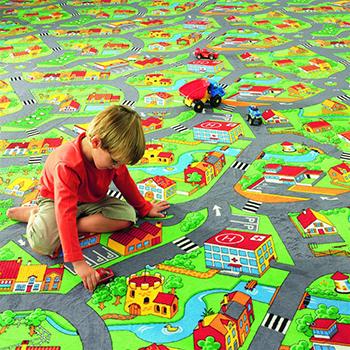ковролин с рисунком города для детей