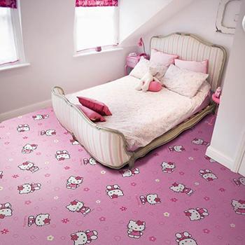 розовый ковролин для девочек
