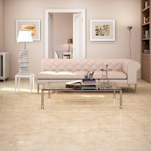 розовый мрамор в гостиной