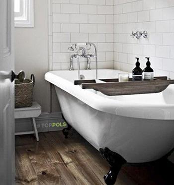 деревянное напольное покрытие для ванной