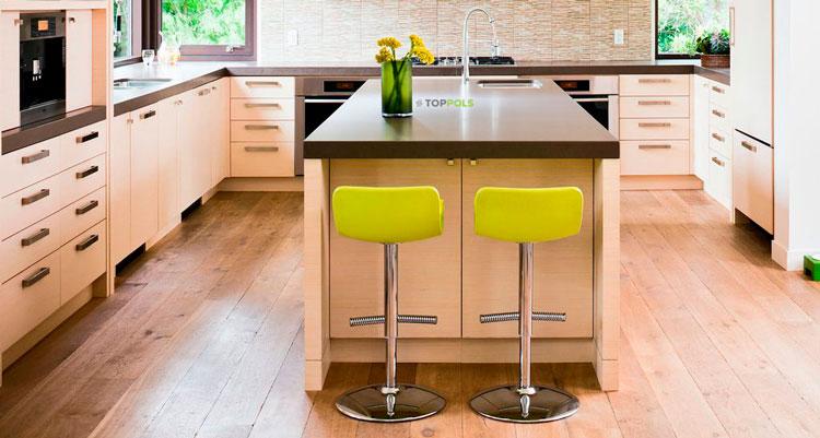 ламинат на небольшой кухне