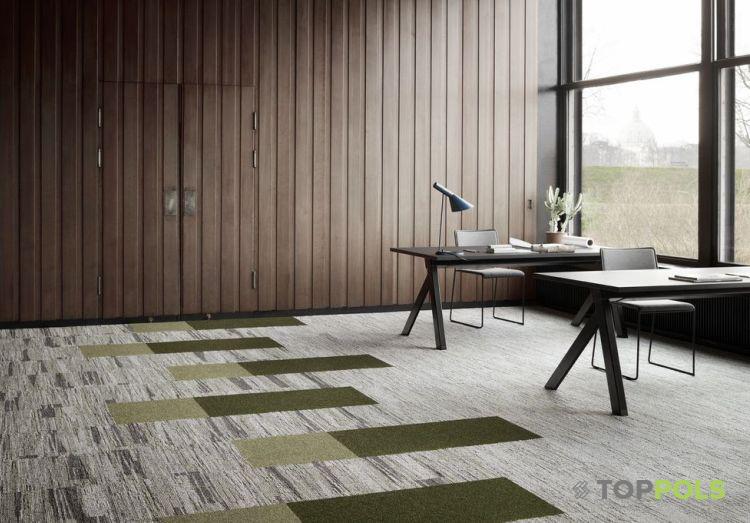 зеленая ковровая плитка