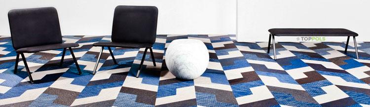 синее ковровое покрытие