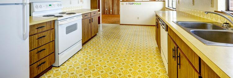 желтый линолеум на кухне