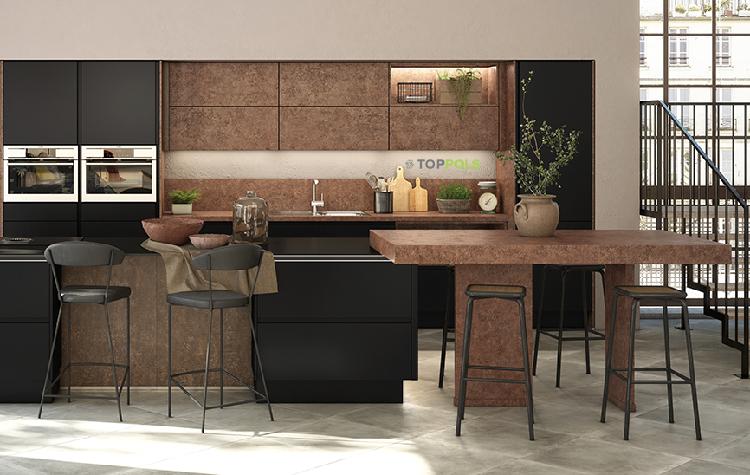 керамический пол в кухне