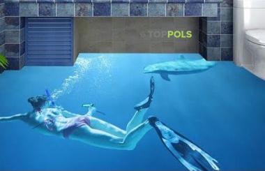3д пол Под водой