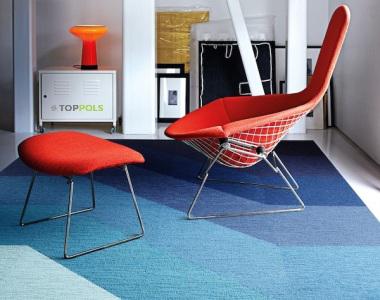 ковровая плитка синяя