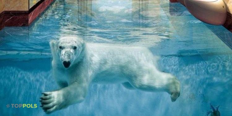 медведь полимерный пол