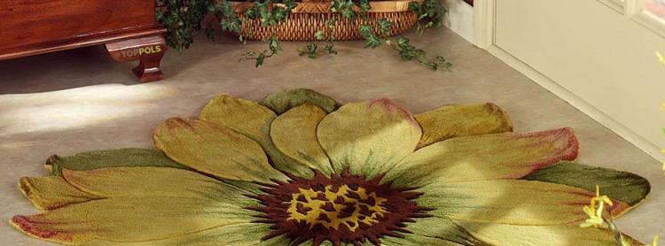 ковер в форме цветка