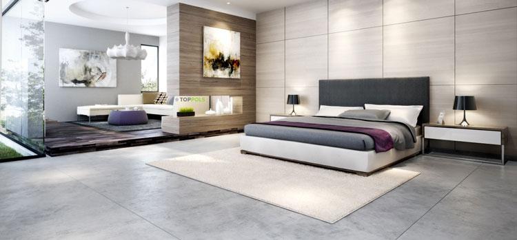 роскошная спальня в минимализме