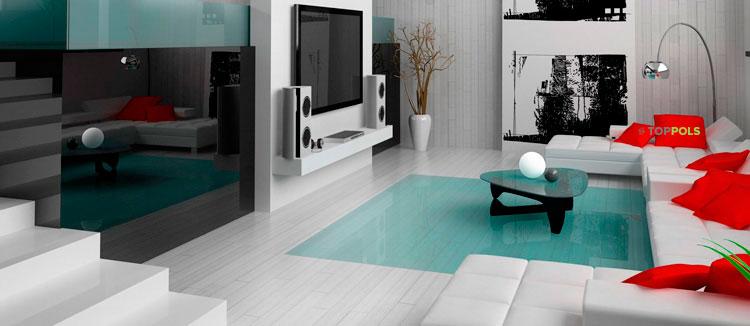 стильный серый интерьер