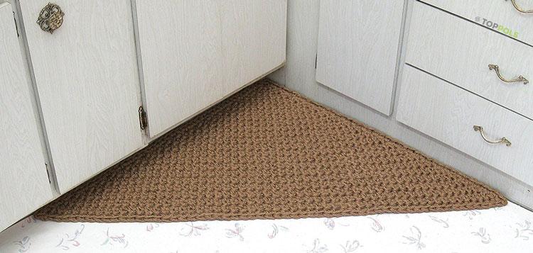 угловой коврик на кухне