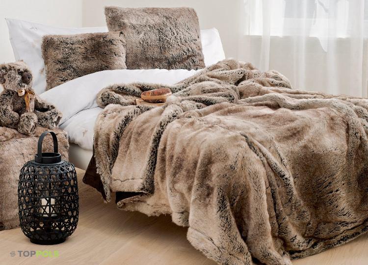 зимняя меховая постель