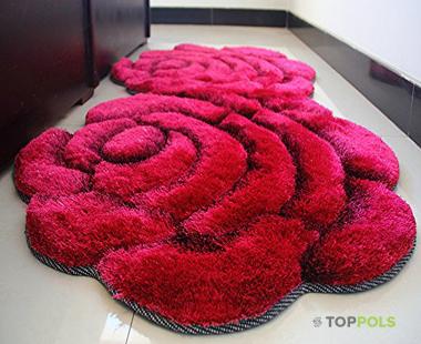 коврик красная роза