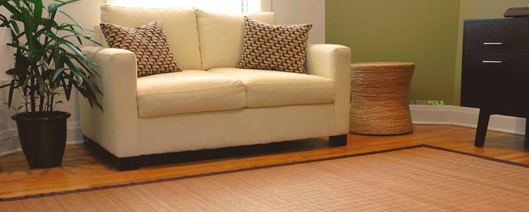 бамбуковый коврик на пол