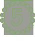 зеленая цифра 5