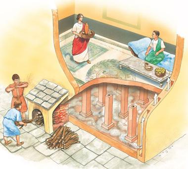 Теплый пол в Древнем Риме