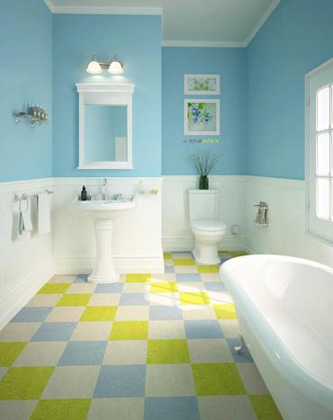 Ванная комната и мармолеум