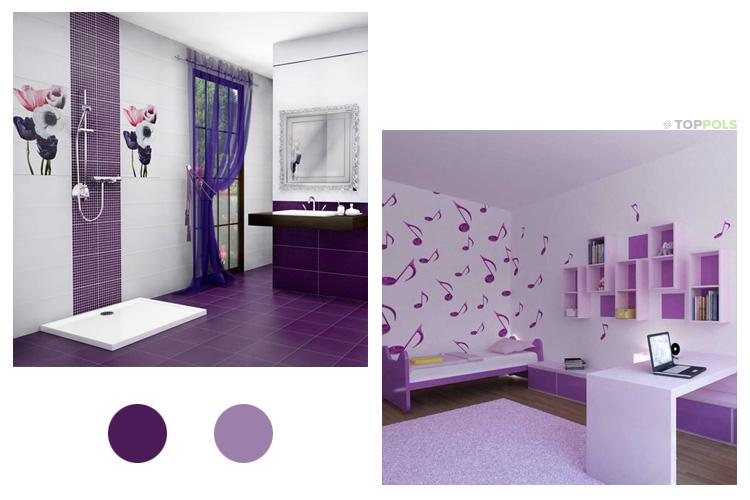 фиолетово-сиреневый интерьер