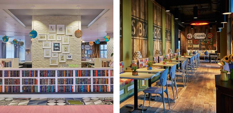 библиотека и бар бутик-отеля