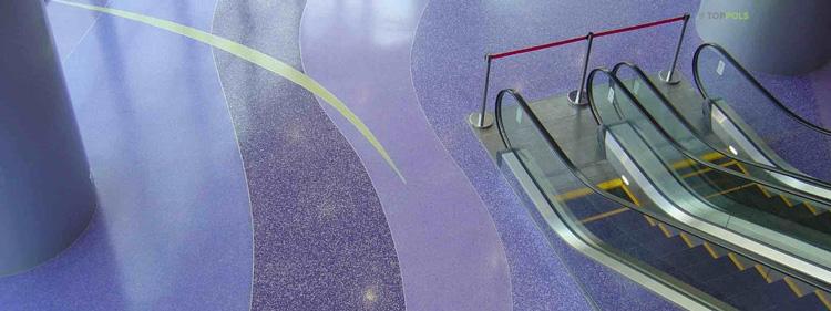 фиолетовый наливной пол
