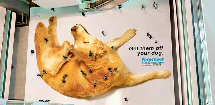 объемная реклама на полу