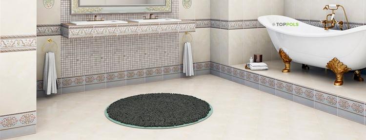плитка в ванной на наливной пол