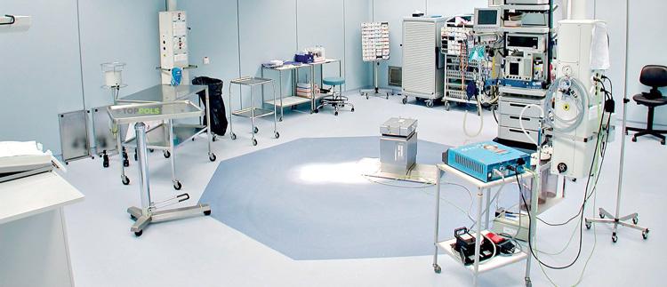 токорассеивающий линолеум в операционной
