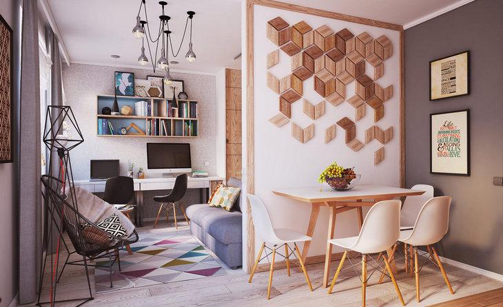 минималистичный мягкий дизайн квартиры