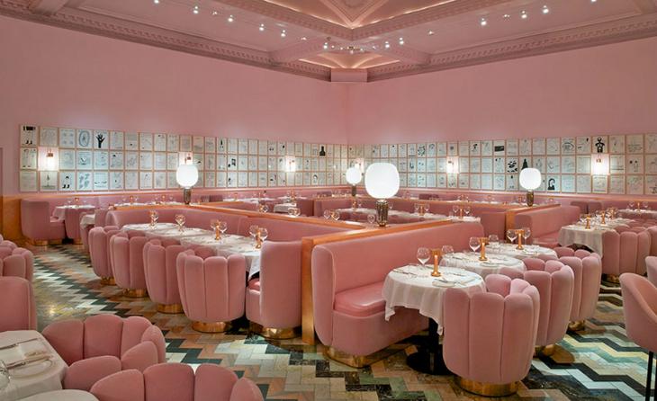 мебель мягкая розовая