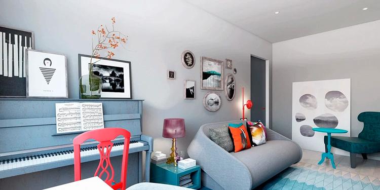 комната в стиле блюз