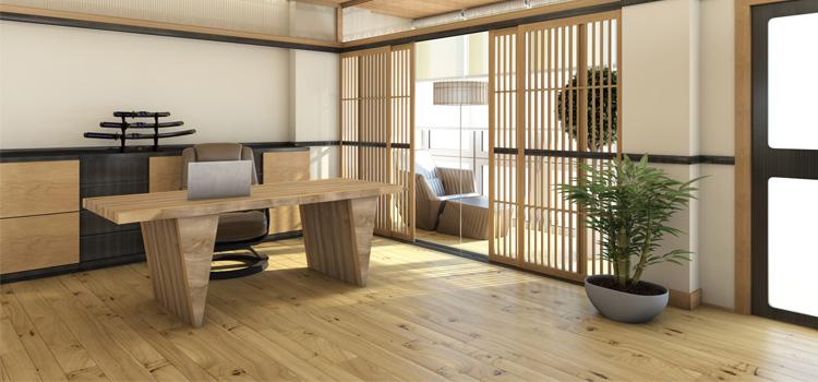 кабинет в японском минимализме