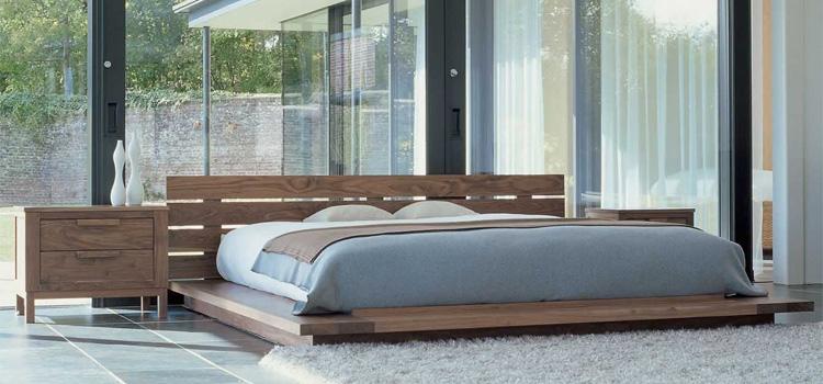 минималистичная кровать